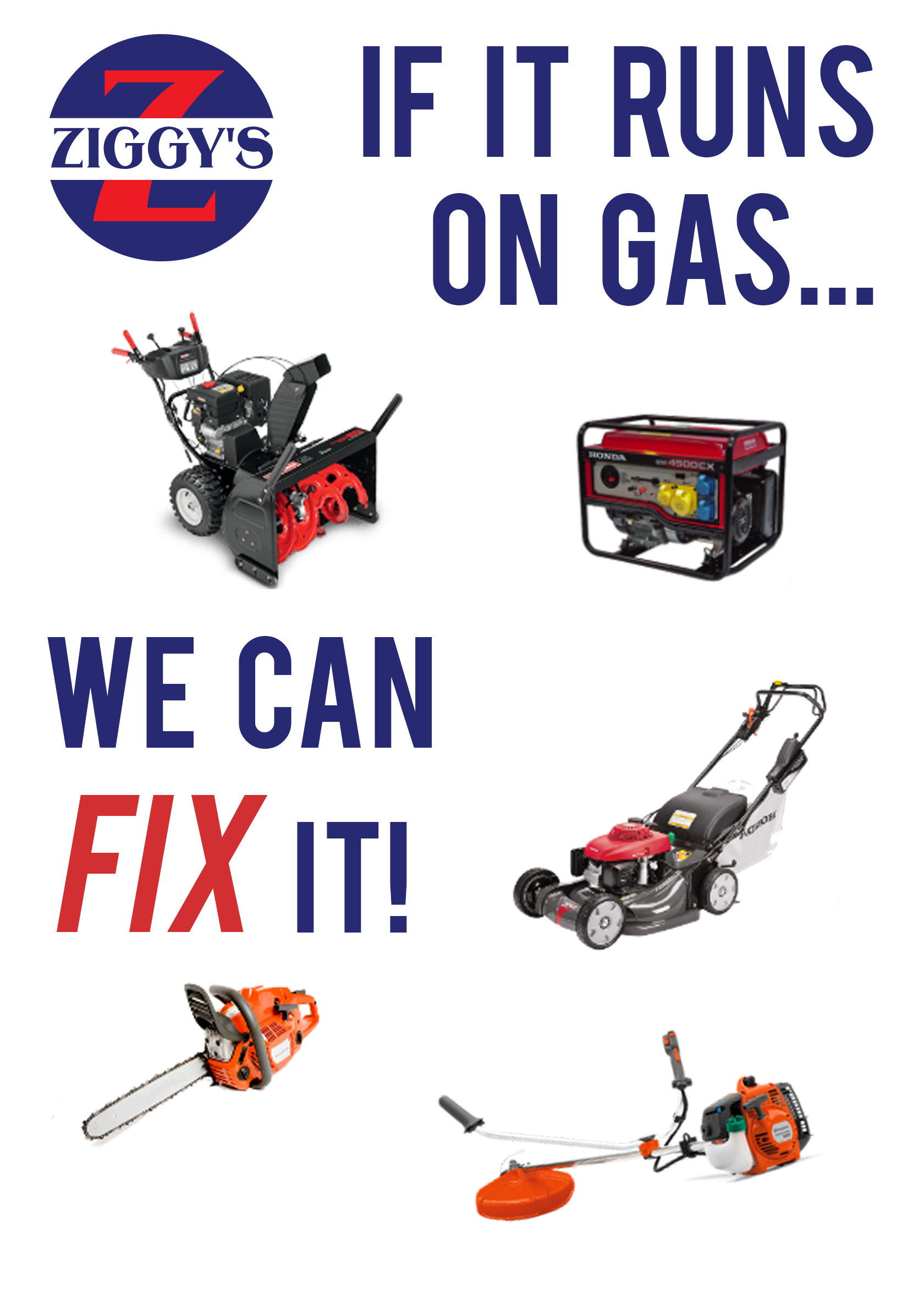 Repair Shop - If it runs on gas, we can fix it!